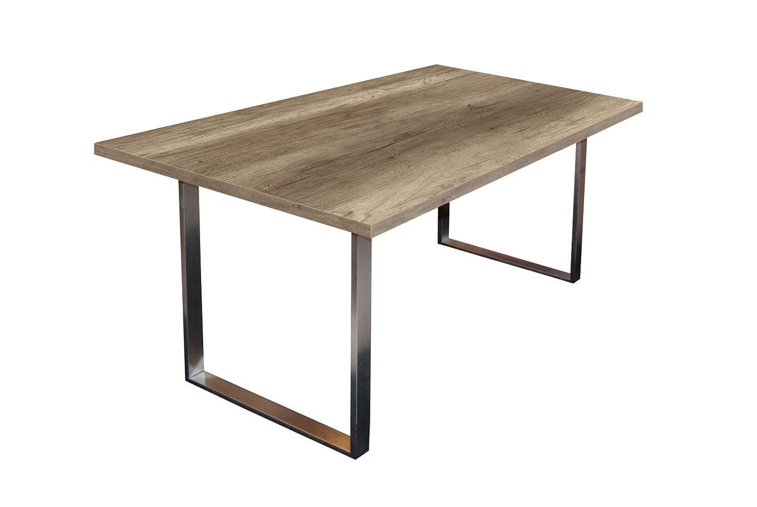 Steel Esstisch 0546/160-90 wildeiche trüffel