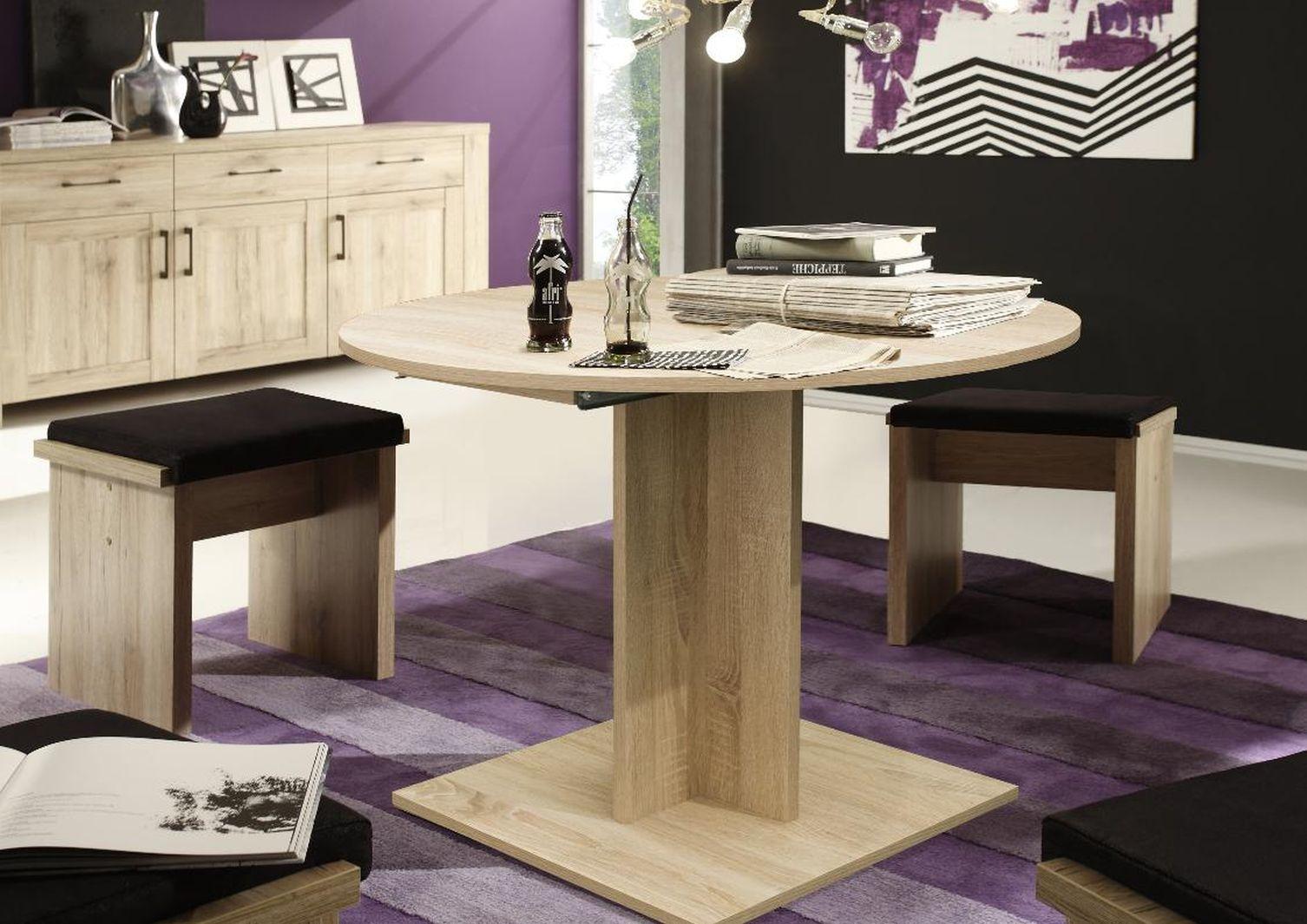 esstisch rund 0588 80 eiche s gerau online kaufen. Black Bedroom Furniture Sets. Home Design Ideas