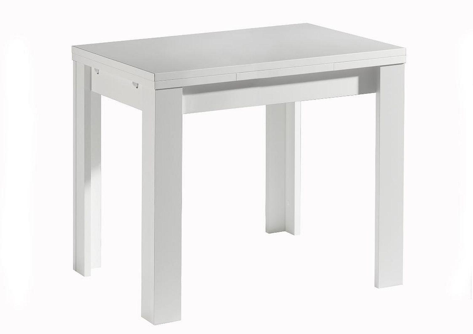 Tisch esstische weiss modern erweiterbar ausziehbar for Platzsparender esstisch
