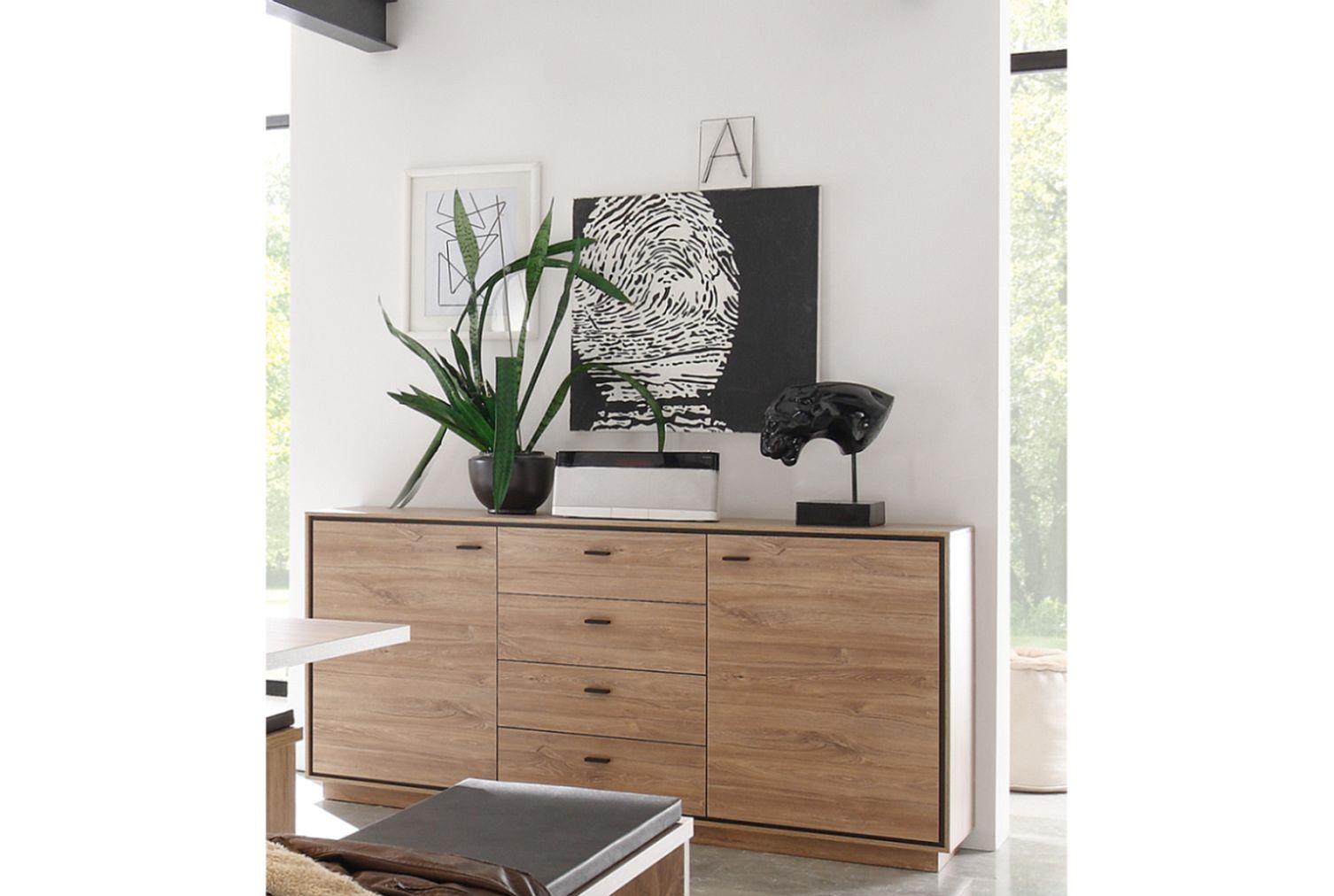 Salinas Sideboard 0641/24 stirling oak/schwarz matt