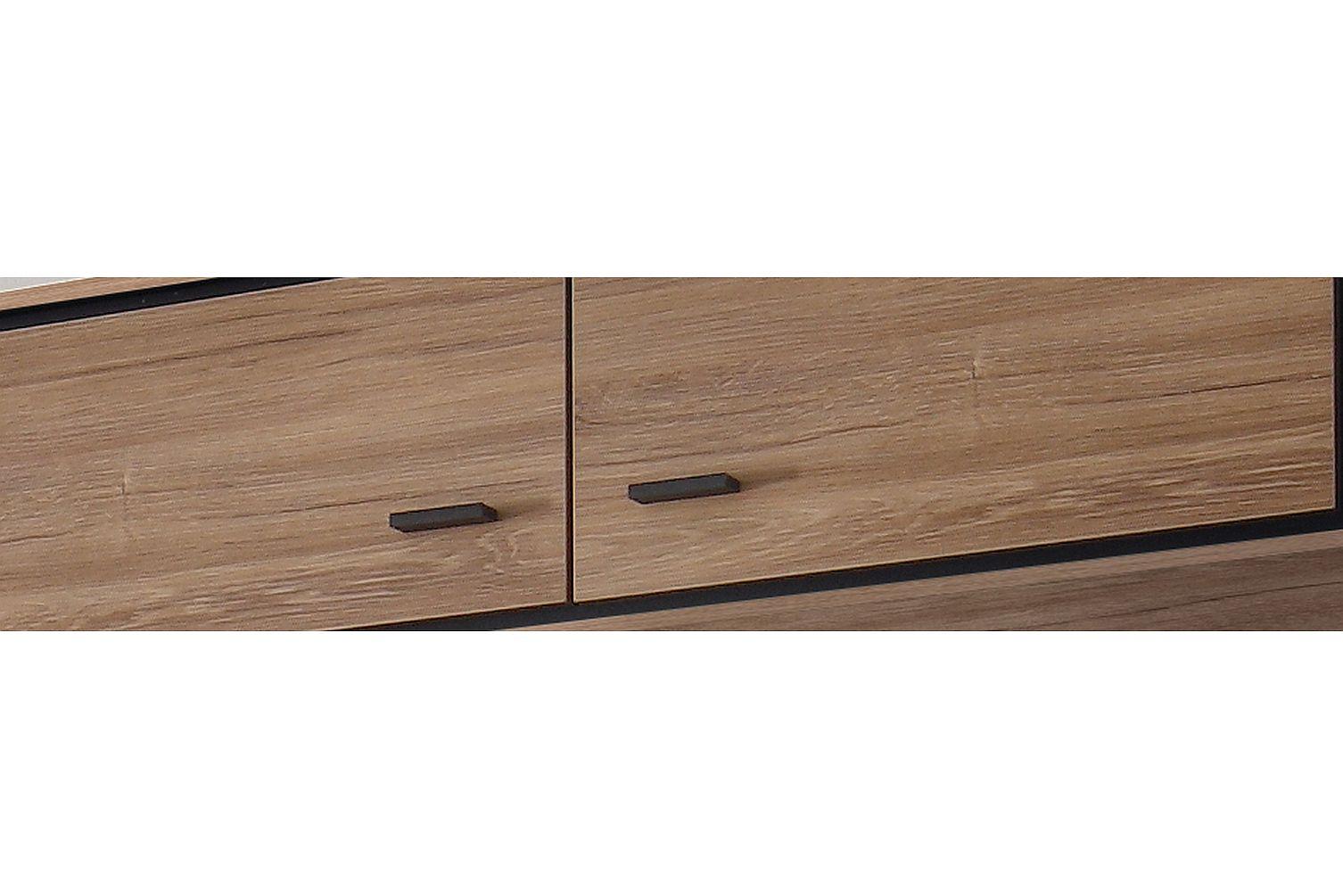 Salinas Hängeschrank 0644/2 stirling oak/schwarz matt