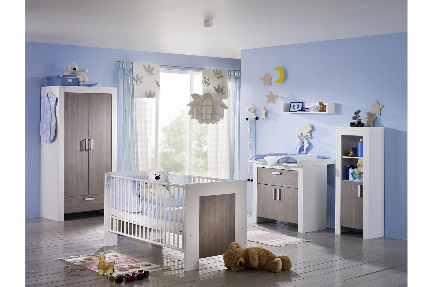 kinderzimmerset babyzimmer set komplett erstausstattung neu bett baby kommode ebay. Black Bedroom Furniture Sets. Home Design Ideas