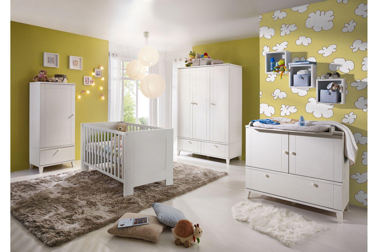 Babyzimmerset Bella weiss matt Set 3