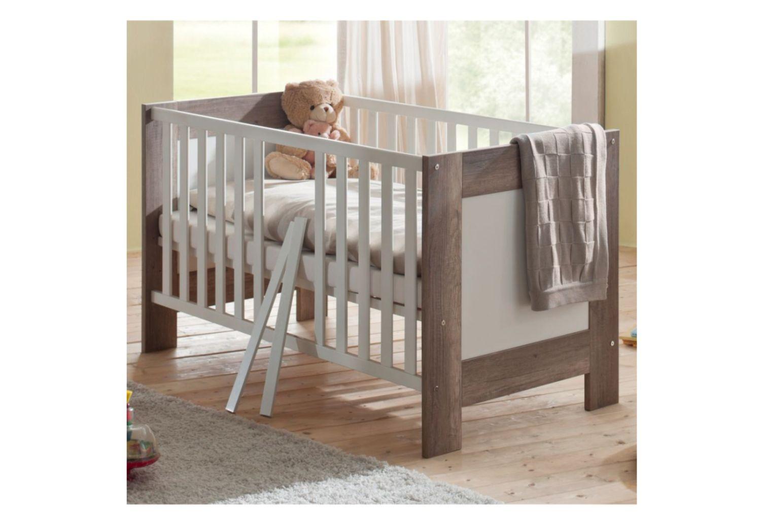 Babyzimmerset Bella wildeiche trüffel / weiss matt Set 1 4 tlg.