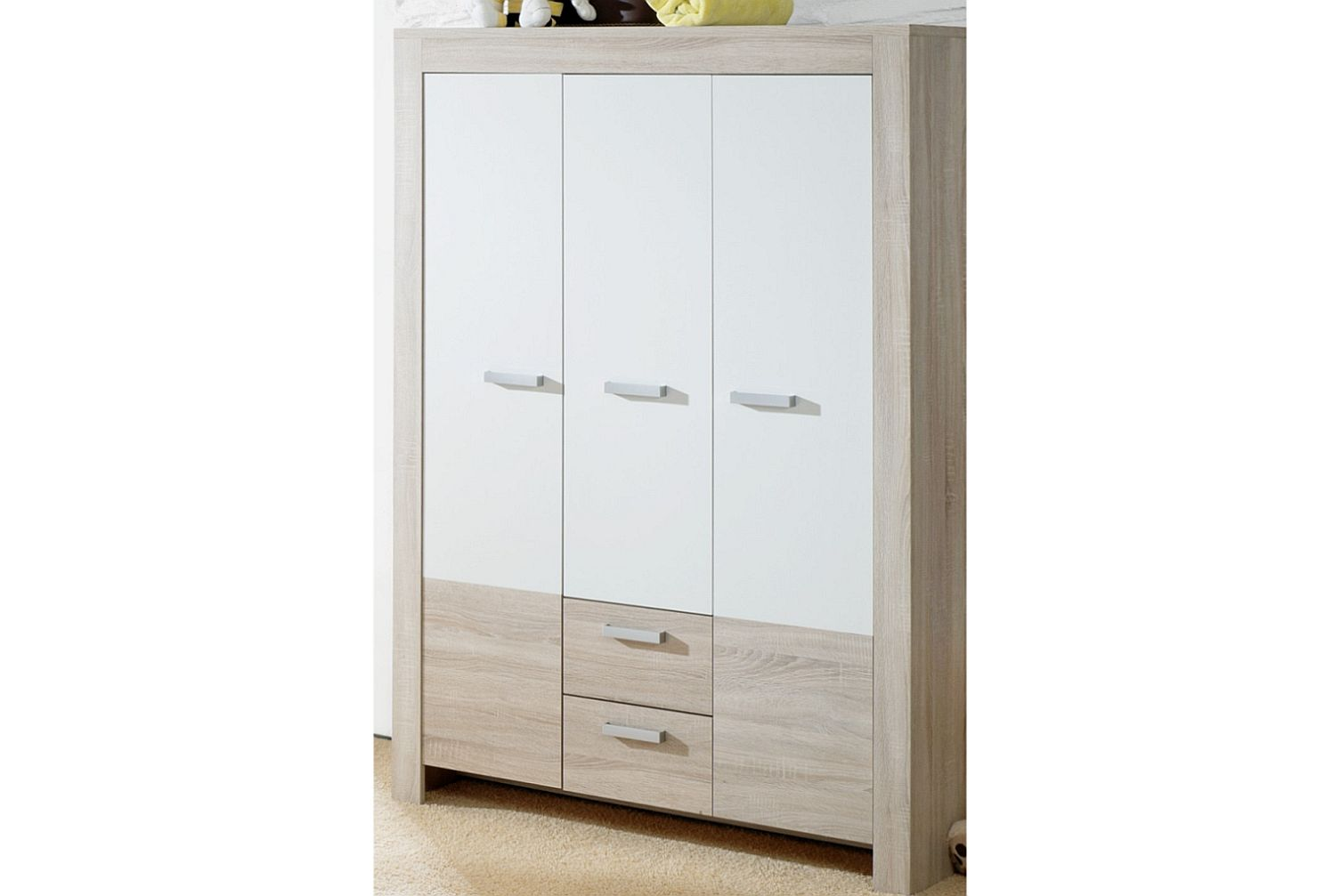 ben kleiderschrank 0437 32 eiche s gerau weiss matt. Black Bedroom Furniture Sets. Home Design Ideas