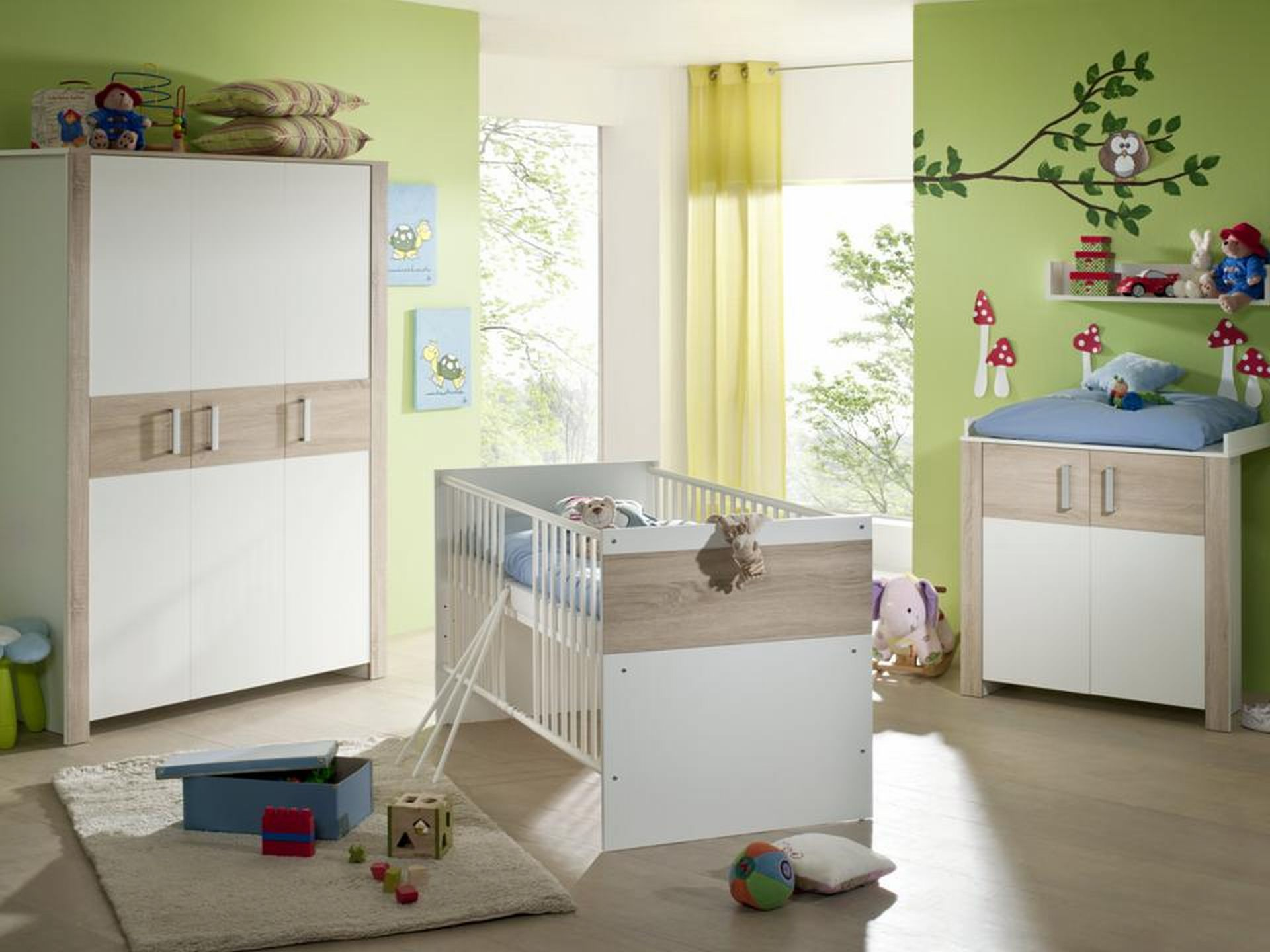 3trg babyzimmerset boboo babyzimmer kinderzimmer babyzimmerset babym bel neu ebay. Black Bedroom Furniture Sets. Home Design Ideas