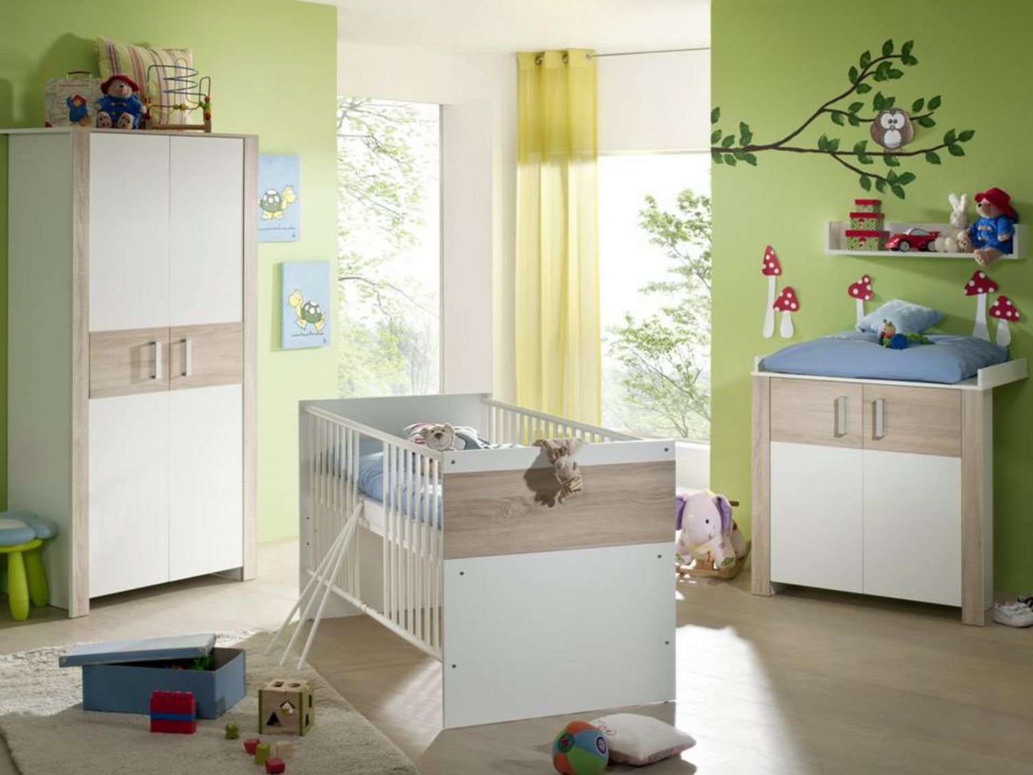 baby ausstattung babybett kinderzimmer babym bel. Black Bedroom Furniture Sets. Home Design Ideas