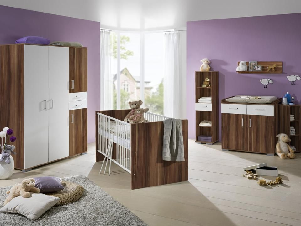 babyzimmer 8 tlg kinderzimmer wickelkommode babybett ebay. Black Bedroom Furniture Sets. Home Design Ideas