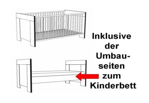 babyzimmer 5 tlg kinderzimmer komplett babybett neu. Black Bedroom Furniture Sets. Home Design Ideas