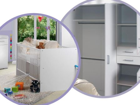 Babyzimmer Isabel Weiss/Weiss 8 tlg.