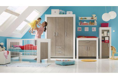 Kleiderschrank schrank babyschrank babyzimmer babym bel ebay for Schrank dekorfolie