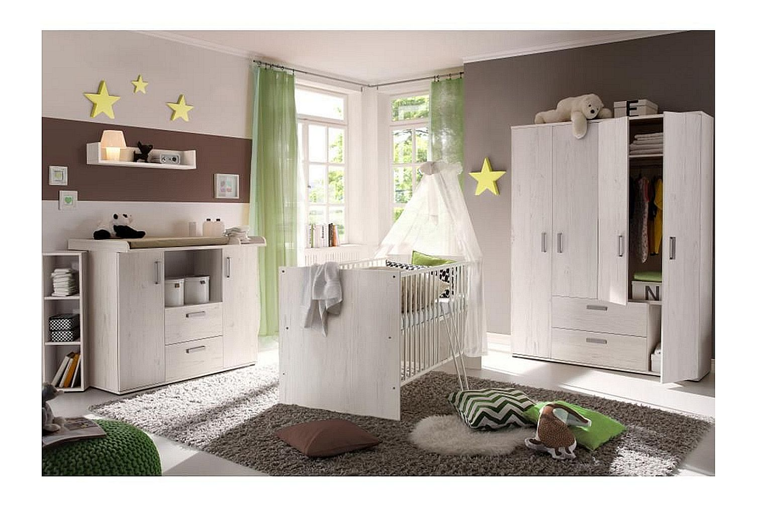 babybett babyzimmer komplett wickelkommode kinderzimmer set neu komplettzimmer ebay. Black Bedroom Furniture Sets. Home Design Ideas