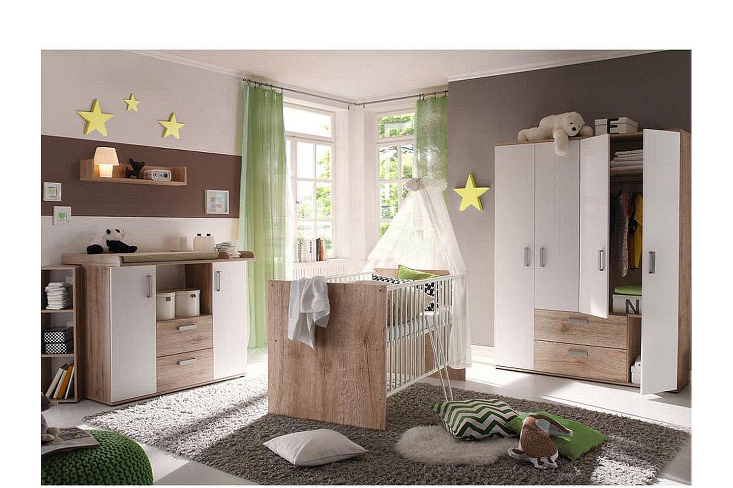 babybett babyzimmer komplett wickelkommode kinderzimmer set komplettzimmer neu ebay. Black Bedroom Furniture Sets. Home Design Ideas