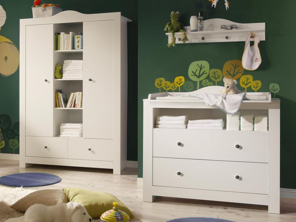 babyzimmer lucca 2 leni weiss weiss 5 tlg online kaufen. Black Bedroom Furniture Sets. Home Design Ideas