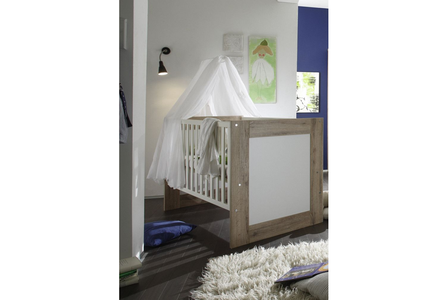 kinderbett bett babybett gitterbett umbaubar erweiterbar juniorbett neu baby ebay. Black Bedroom Furniture Sets. Home Design Ideas