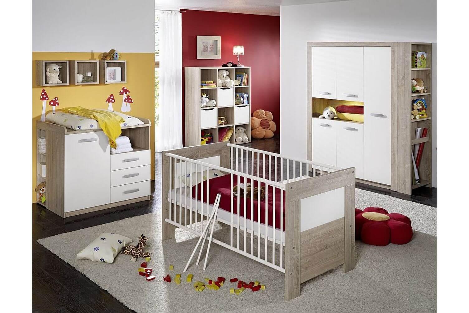 Kinderzimmerset babyzimmer babybett wickelkommode - Exklusive babyzimmer ...