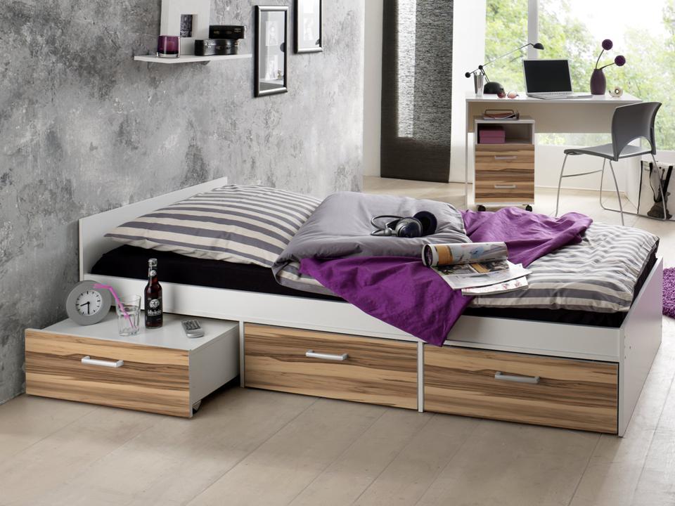 jugendzimmer komplett schreibtisch bett kinderzimmer jugendbett baltimore nuss ebay. Black Bedroom Furniture Sets. Home Design Ideas