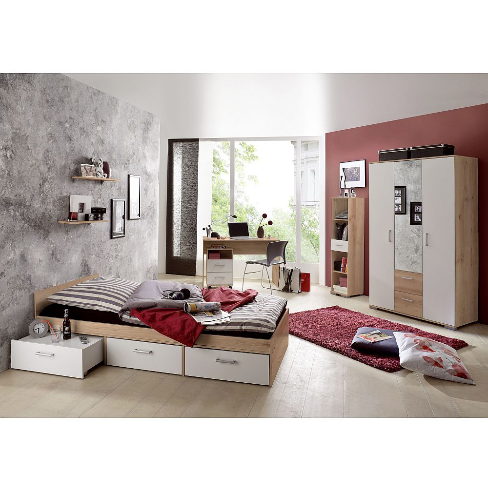 jugendzimmer komplett kinderzimmer schreibtisch bett kinderzimmer jugendbett ebay. Black Bedroom Furniture Sets. Home Design Ideas