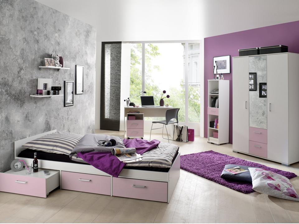 jugendzimmer komplett schreibtisch bett kinderzimmer jugendbett steffi ebay. Black Bedroom Furniture Sets. Home Design Ideas