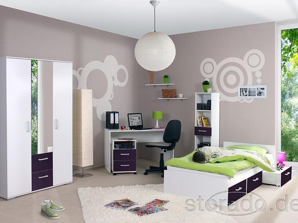 jugendzimmer kinderzimmer komplett komplettzimmer bett ebay. Black Bedroom Furniture Sets. Home Design Ideas