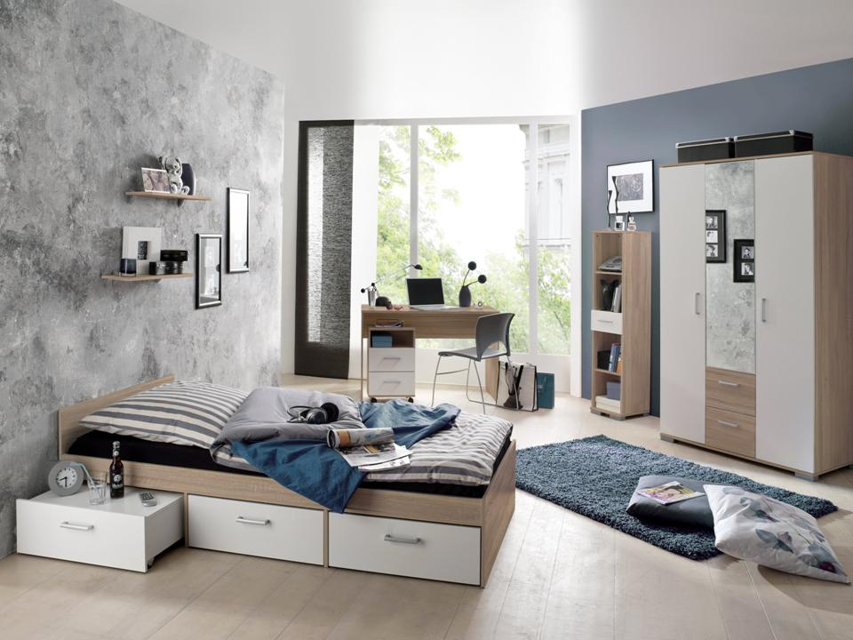 jugendzimmer kinderzimmer komplett kleiderschrank bett ebay. Black Bedroom Furniture Sets. Home Design Ideas