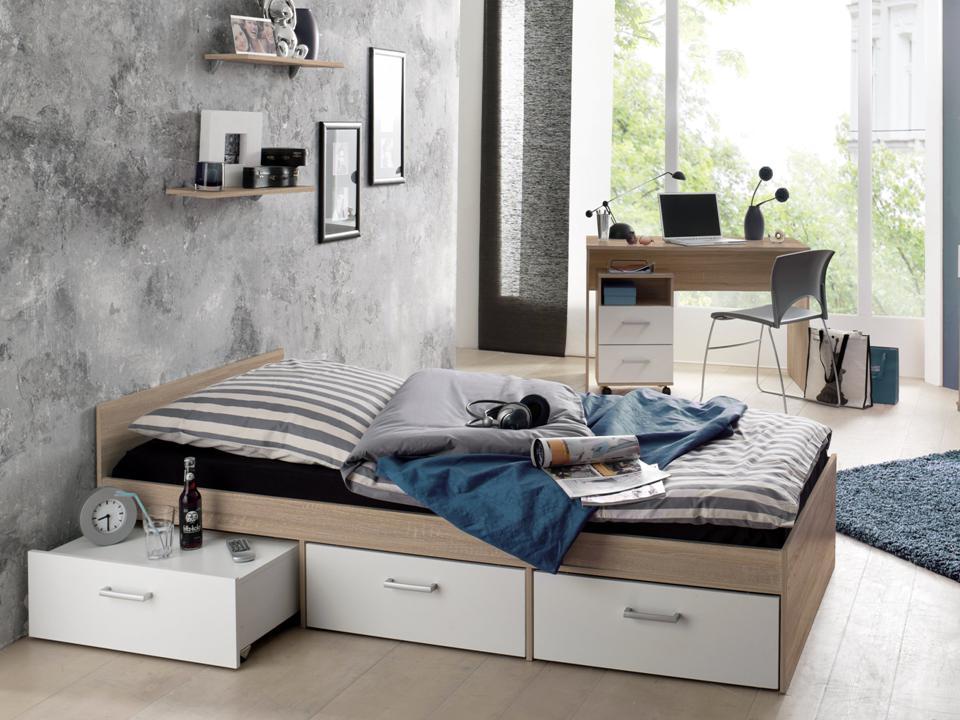 jugendzimmer komplett schreibtisch bett kinderzimmer. Black Bedroom Furniture Sets. Home Design Ideas