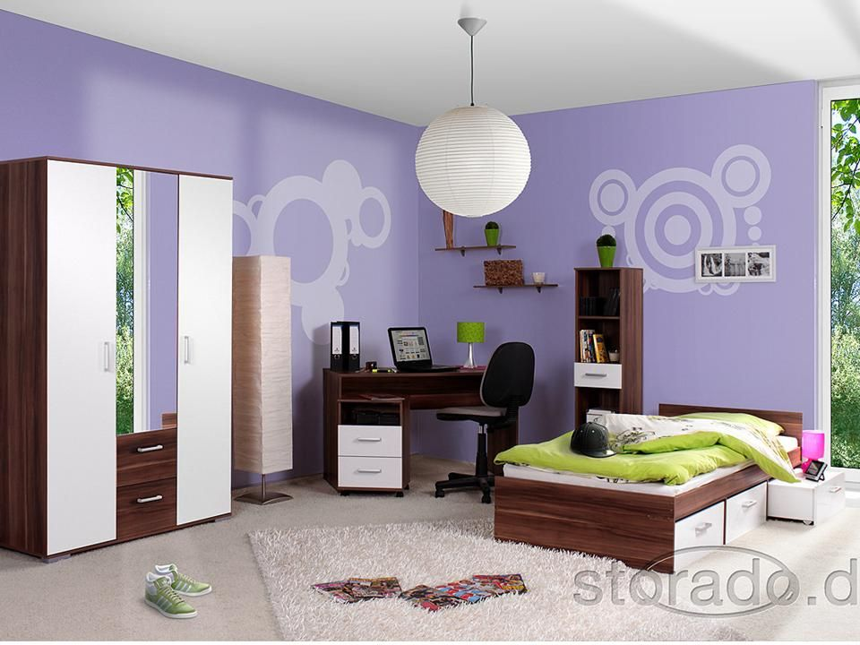 jugendzimmer kinderzimmer komplett komplettzimmer bett. Black Bedroom Furniture Sets. Home Design Ideas