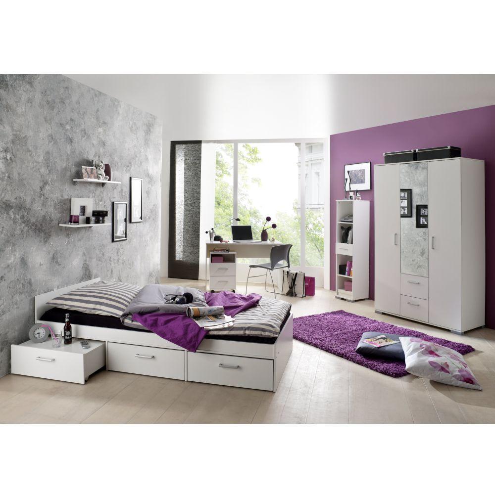 Bett Kinderbett Einzelbett Ausziehbar 90x200cm Wildeiche Neu