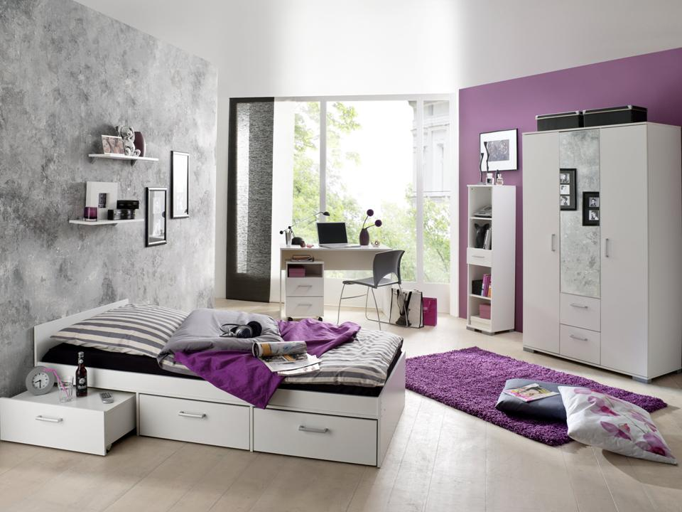 jugendzimmer komplett wei. Black Bedroom Furniture Sets. Home Design Ideas