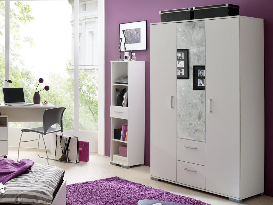 jugendzimmer steffi weiss weiss 6 tlg online kaufen. Black Bedroom Furniture Sets. Home Design Ideas