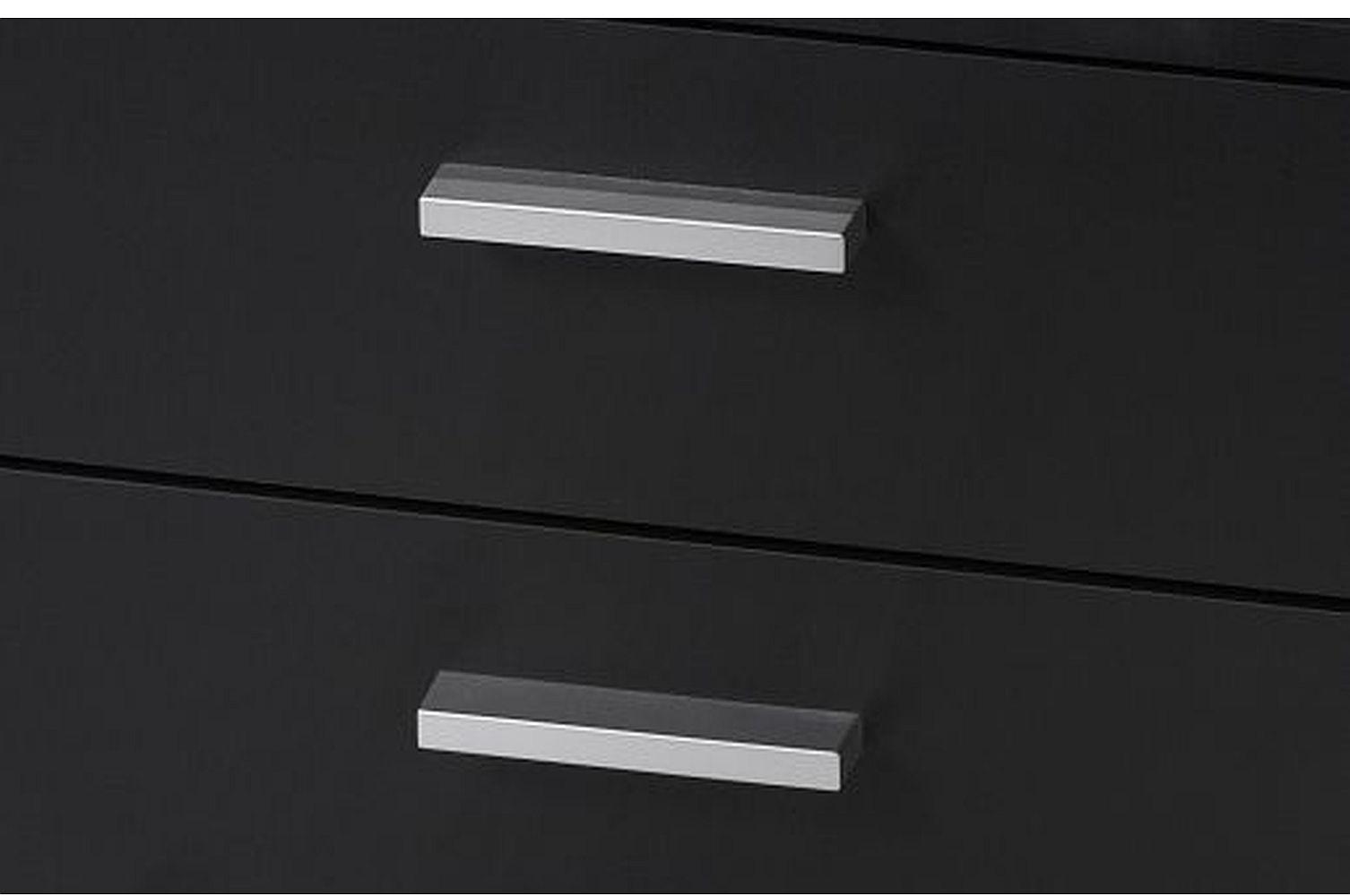 Nachtschrank nachttische tisch kommode nachtkonsole neu schwarz ebay - Kommode schwarz matt ...