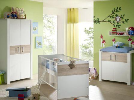 babyzimmer komplett babybett kinderzimmer babym bel erstausstattung baby neu set. Black Bedroom Furniture Sets. Home Design Ideas