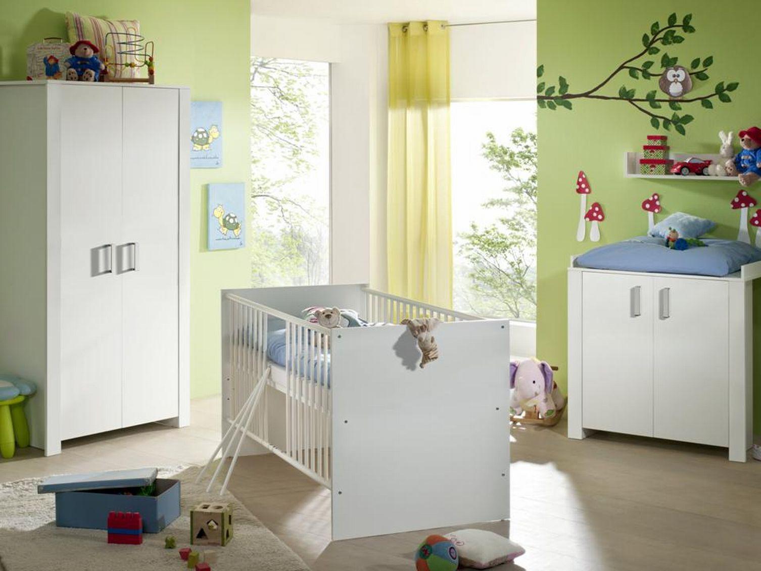babyzimmer komplett baby ausstattung kinderzimmer babym bel babybett neu set. Black Bedroom Furniture Sets. Home Design Ideas