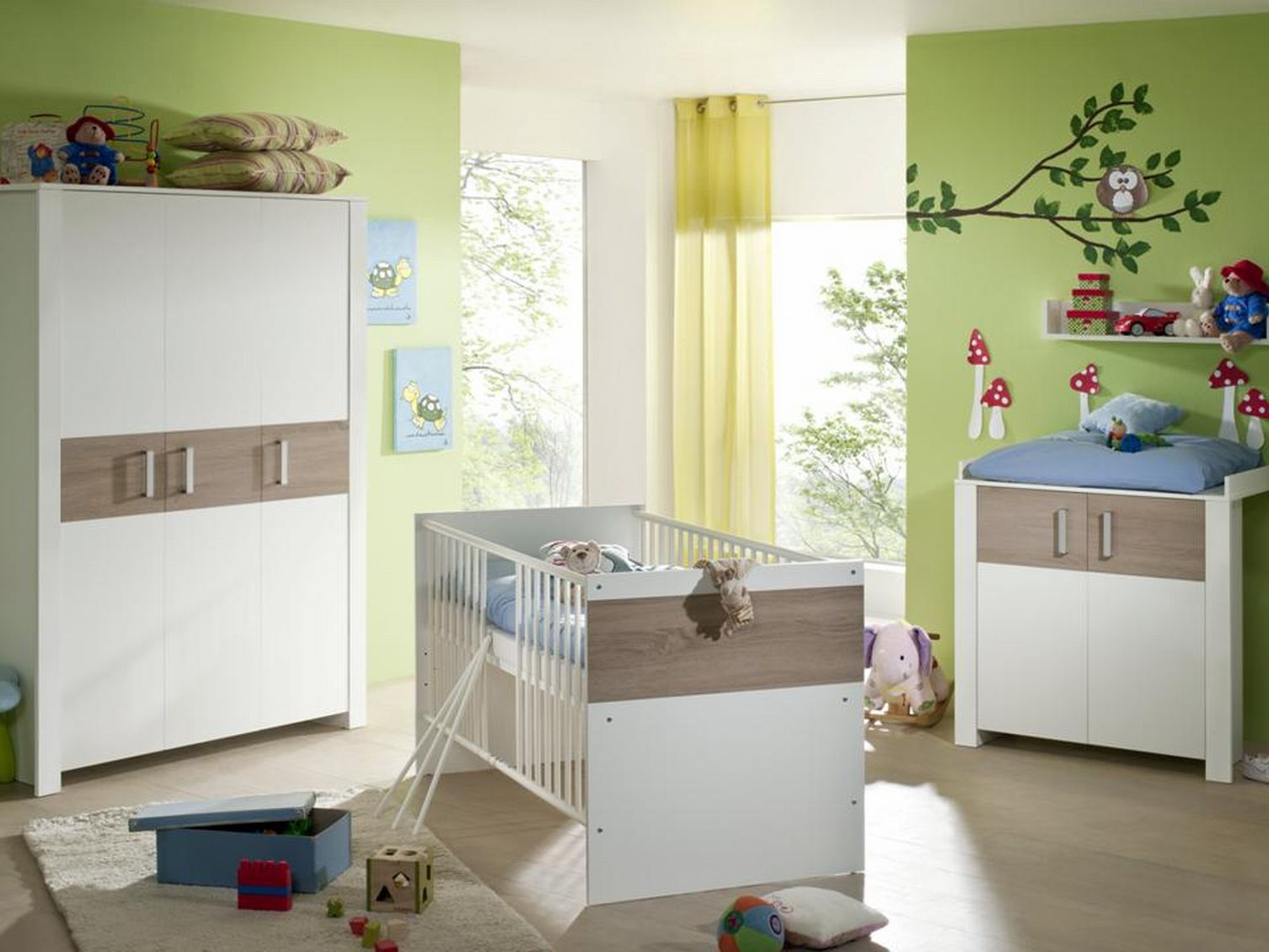 babyzimmerset kinderzimmer zwillingszimmer zwillinge neu baby zwillingsbetten ebay. Black Bedroom Furniture Sets. Home Design Ideas