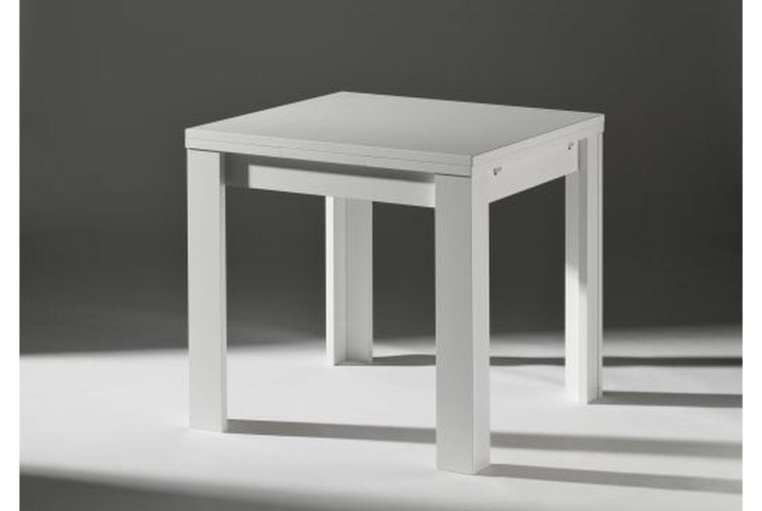 esstisch zip 80 weiss matt 0590 80 online kaufen. Black Bedroom Furniture Sets. Home Design Ideas
