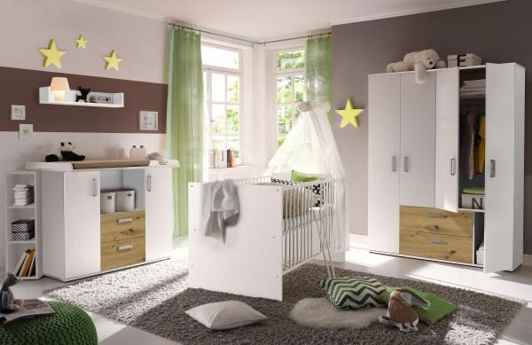 Babyzimmerset Sydney 6tlg. weiß asteiche EAN 4260498522705