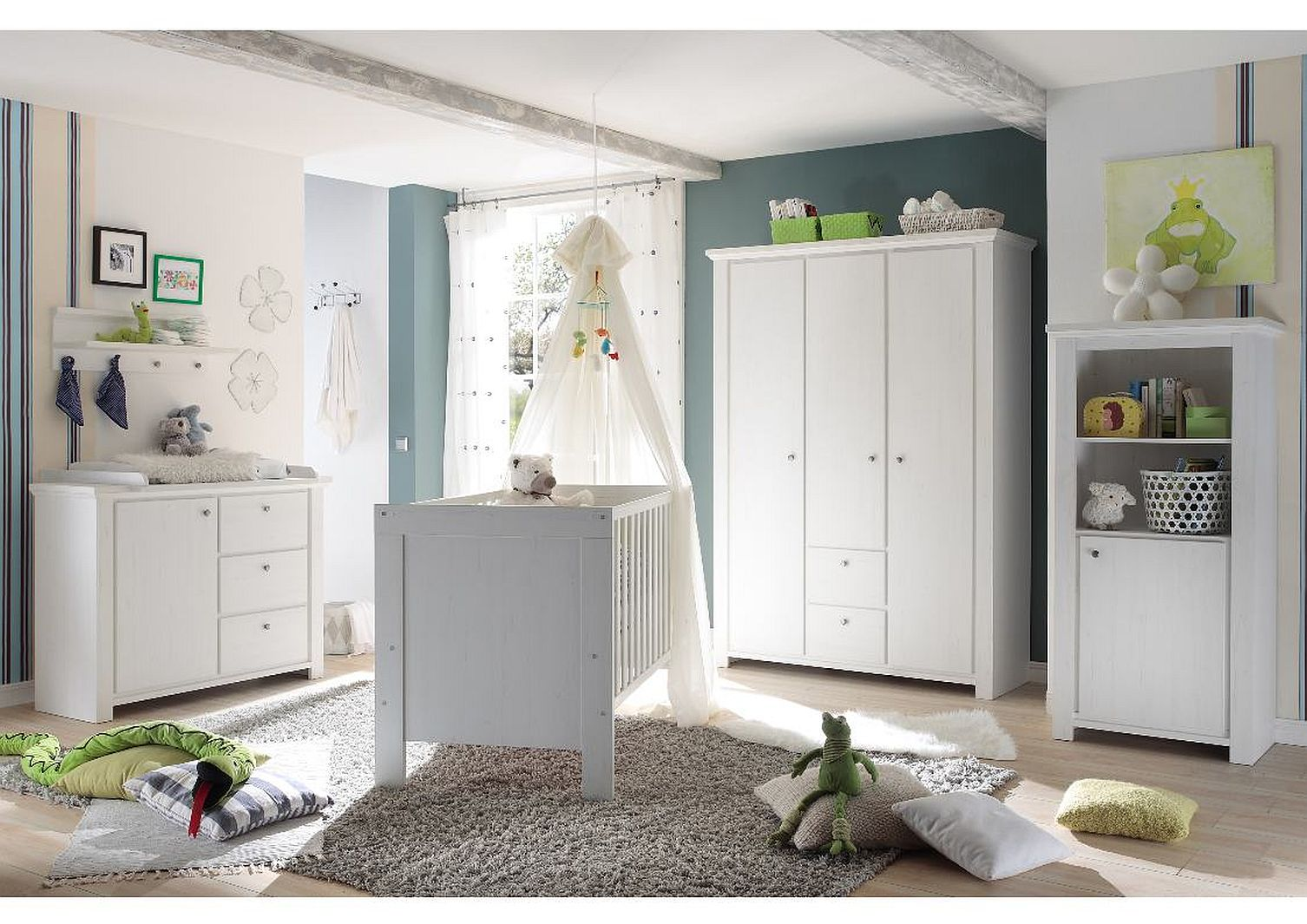babybett und wickelkommode set dandy anderson pine 3tlg. Black Bedroom Furniture Sets. Home Design Ideas