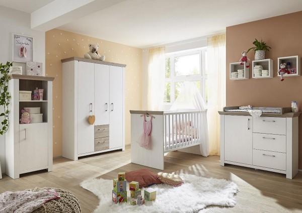 Babyzimmer New York Set 4 anderson pine nelson eiche 6 tlg