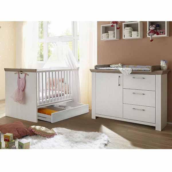 Babyzimmer New York Set 2 anderson pine / nelson eiche 4 tlg.