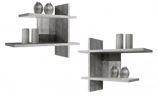 Wandregale beton B H T 80x60x25 cm Mix 1 0524 2er