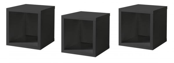 Hängeregale anthrazit B H T 32x32x32 cm Mix Box 0771 HR 3er