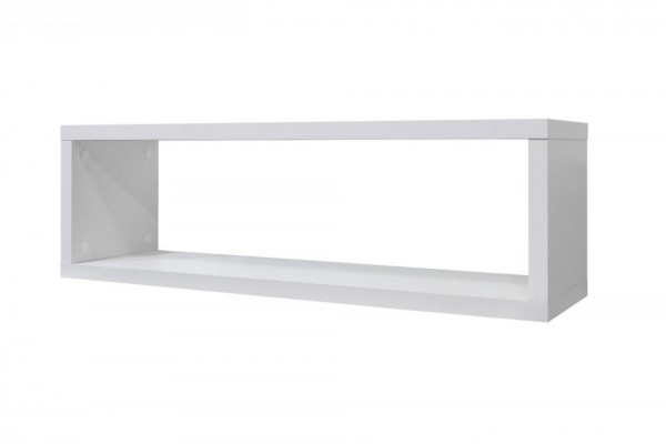 Wandregal weiss matt B H T 82x26x22 cm Mix 3 0526 00