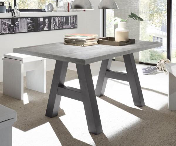 Esstisch graphit beton 140x75x90 cm Mister A140 EAN4044393247907