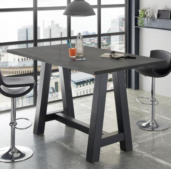 Bartisch schwarz graphit 120x105x70cm Bartresentisch A120