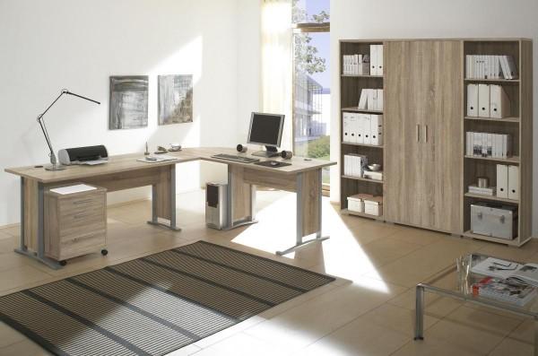 Bürozimmer Office Line Set 2 eiche sonoma 5 tlg