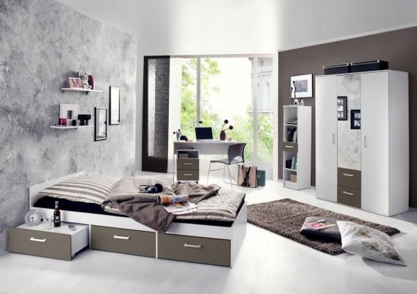 Jugendzimmer Berlin weiß matt lava 6 tlg EAN 4260498522767