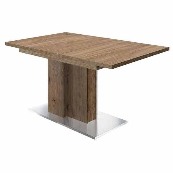 Esstisch Jump 0556/160-210 stirling oak / edelstahloptik