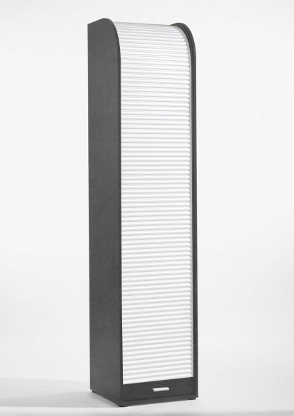 Rolloschrank graphit weiss BHT 45x202x44 cm 755 1RL