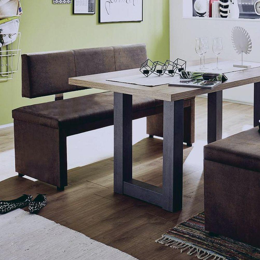 polsterbank mit rueckenlehne malta polster 1500 rl vintage braun. Black Bedroom Furniture Sets. Home Design Ideas