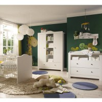 Babyzimmer Lucca 2 Leni Weiss Weiss 5 tlg.